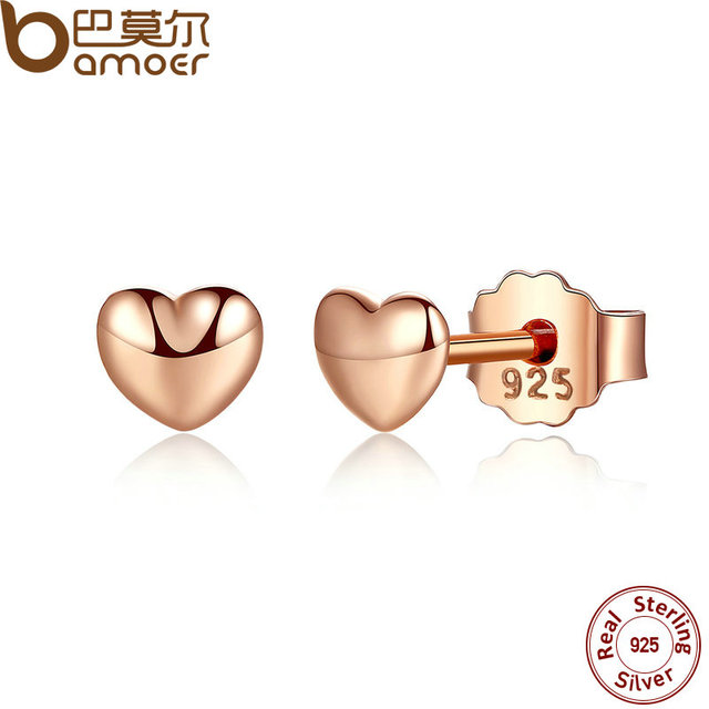925 Sterling Silver  Hearts Stud Earrings for Women 4