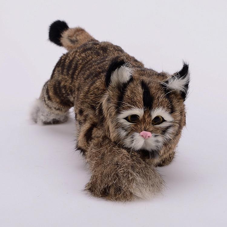 Фотография big new creative simulation gray cat plastic&fur Creeping cat model gift 42x14x13cm a70