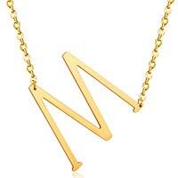 Hot Men Women 26 Alfabet Letter Collar Choker Body Chain Necklace Women Gold Silver Color Arabic