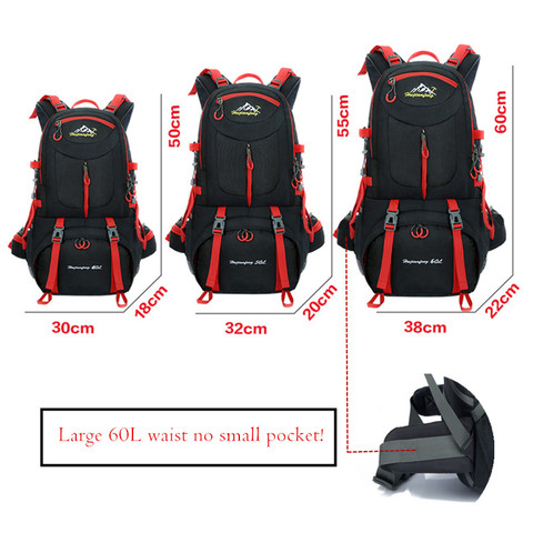 agua esportes mochila viagem escalada montanha 40l