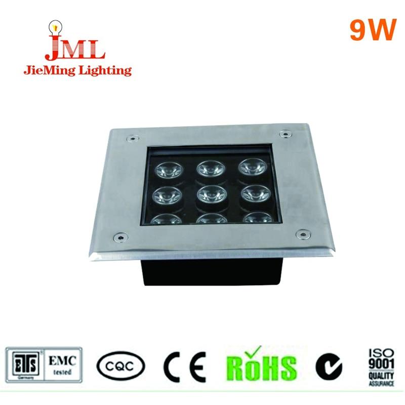 ФОТО Hot sales 12v 24v LED underground light IP67 waterproof use alumiunm material contras 3 led light floor