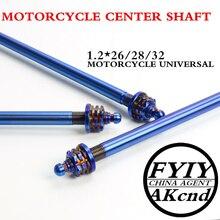 Universal 12*26/28/32mm motocicleta eje de rueda delantera modificado extensión multicolor mid axi forBWS SMAX MAJESTY y bicicletas eléctricas