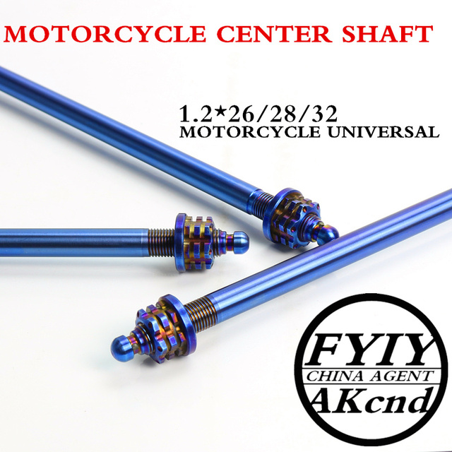 Universal 12*26/28/32mm motorcycle front wheel axle Modified extension multicolor mid axi forBWS SMAX MAJESTY and Electric bikes