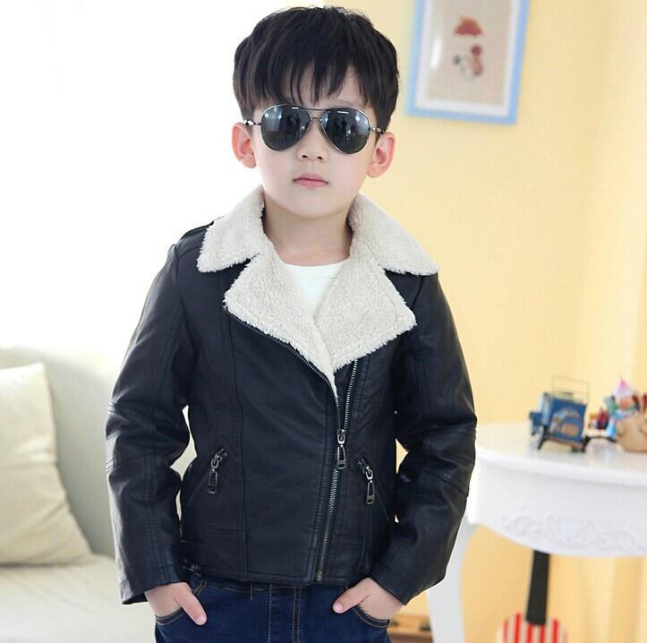Top Quality Brand Designer Children Outerwear Baby Boys Girls Pu
