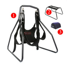 Toughage 3pcs set love sex bed swing stand hammock hanging chair pillow cushion luxury sex furniture adult sex toys for couples toughage sex chair resilient weightless love chair multifunction seat adult sex furnitures erotic adult toys for couples