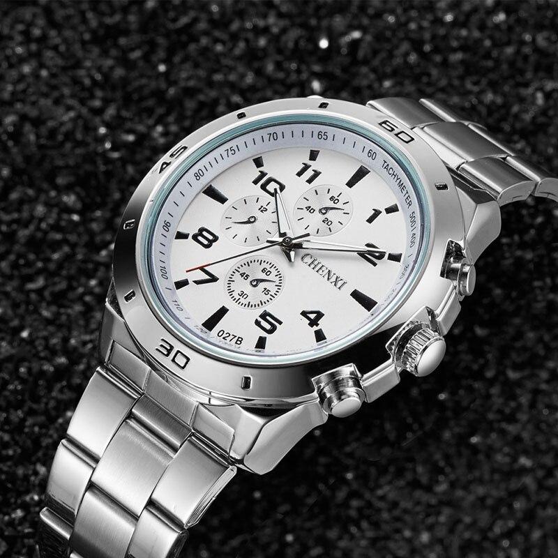 CHENXI Mode Luxus Uhren Männer Casual Edelstahl Wasserdicht Geschenk Uhr Quarz Männlichen Armbanduhr Relogio Masculino 074-46