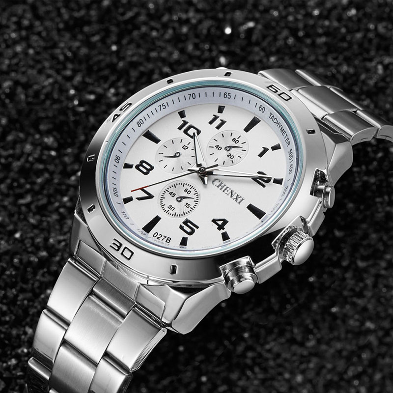 CHENXI Fashion Luxury Watches Men Casual Stainless Steel Waterproof Gift Clock Quartz Male Wristwatch Relogio Masculino 074-4751 new arrival 2015 brand quartz men casual watches v6 wristwatch stainless steel clock fashion hours affordable gift