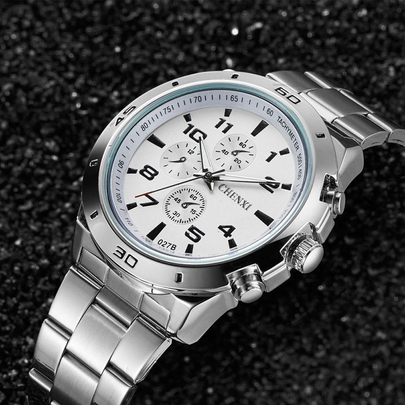 Relojes de lujo de moda CHENXI, reloj de pulsera Masculino de cuarzo resistente al agua de acero inoxidable informal para hombre, reloj Masculino, reloj Masculino, 074-46