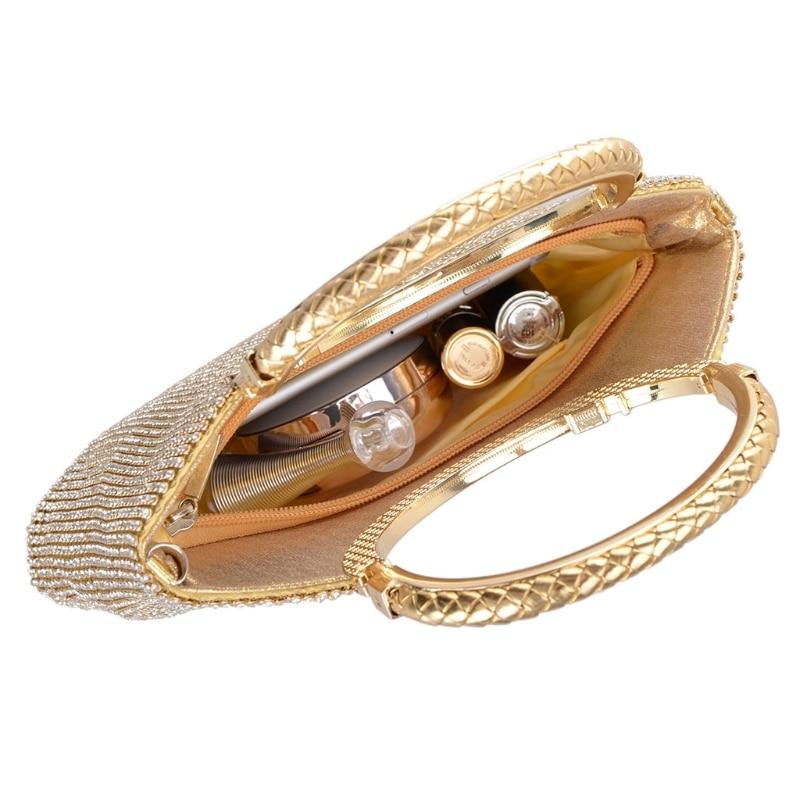 Borsa Clutch Gold Nuziale Di Da Del Promenade Wallet Elegante Partito Sera Donne Cerimonia Borse silver Purse dPH6xv