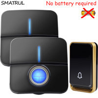SMATRUL Self Powered Waterproof Wireless DoorBell No Battery EU Plug Smart Door Bell 1 2 Button
