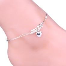 Новая мода ручной работы двойной цепной браслет для женщин Элегантный браслет на лодыжку сексуальные Сандалеты пляжные ноги идеальный подарок