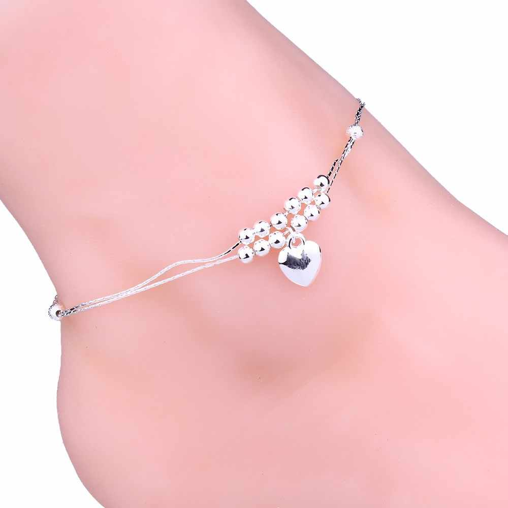 New Fashion Handmade Double Chain Anklet  Women Elegant Ankle Chain Bracelet Sexy Barefoot Sandal Beach Foot Perfect Gift