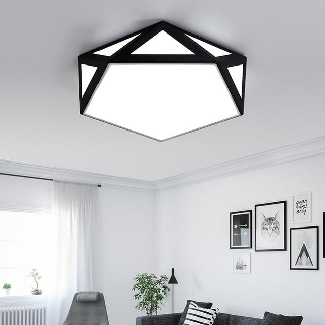 Moderne Eisen Led Deckenleuchte Aufbau DIY Geometrische Deckenleuchte Für  Schlafzimmer/arbeitszimmer/esszimmer/
