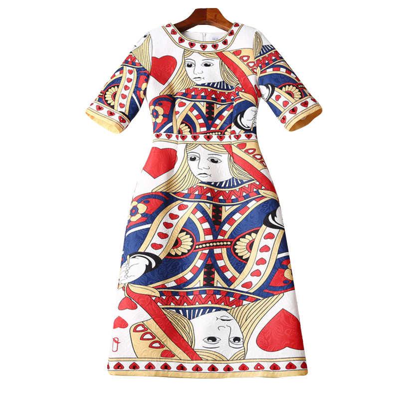 68169cd3e3f1179 Женское платье 2019 Высокое качество Весна взлетно-посадочной полосы платья  О-образным вырезом Половина