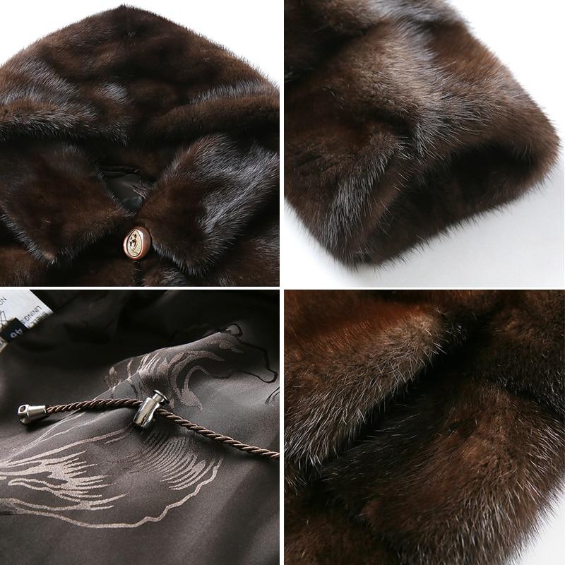 HDHOHR 2019 Baru Natural Mink Fur Coats Wanita Tebal Hangat Musim - Pakaian Wanita - Foto 5