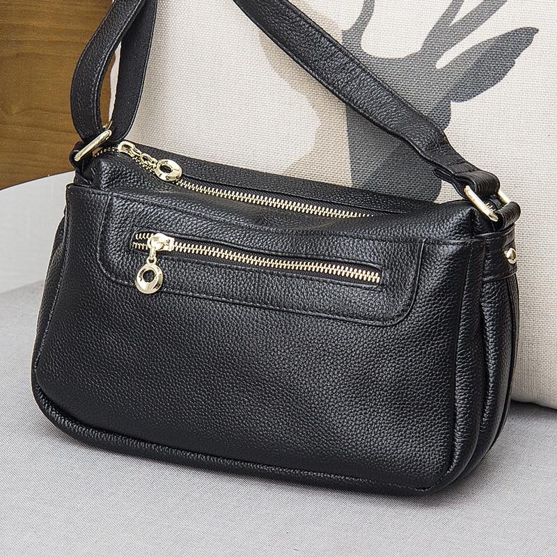 ФОТО Hot sale 2017  genuine leather women's handbag messenger bag Cowhide one shoulder bag black red Varied color Optional