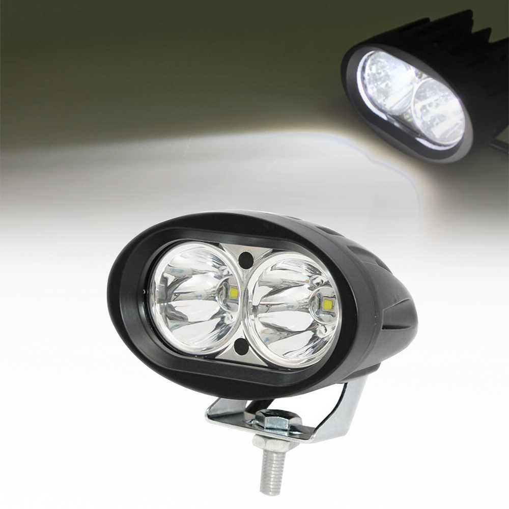 LED Work Light 20W Headlight Spot Beam LED Motorcycle Driving Lights Bar for Truck Boat Offroad ATV UTV 10~30V