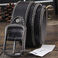 Cowhide Genuine Leather Belts men brand Strap male pin buckle fancy vintage jeans strap male cintos Designers high quality homme