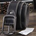 Cuero Genuino Del zurriago Correa masculina pin hebilla de Cinturones de marca hombres de lujo vintage jeans correa cintos masculinos Diseñadores alta calidad homme