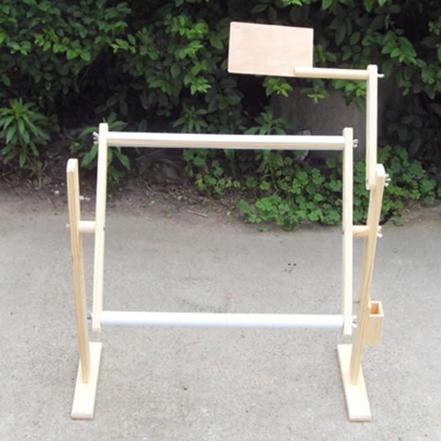 Madera maciza ajustable Cruz estante, soporte de madera escritorio ...