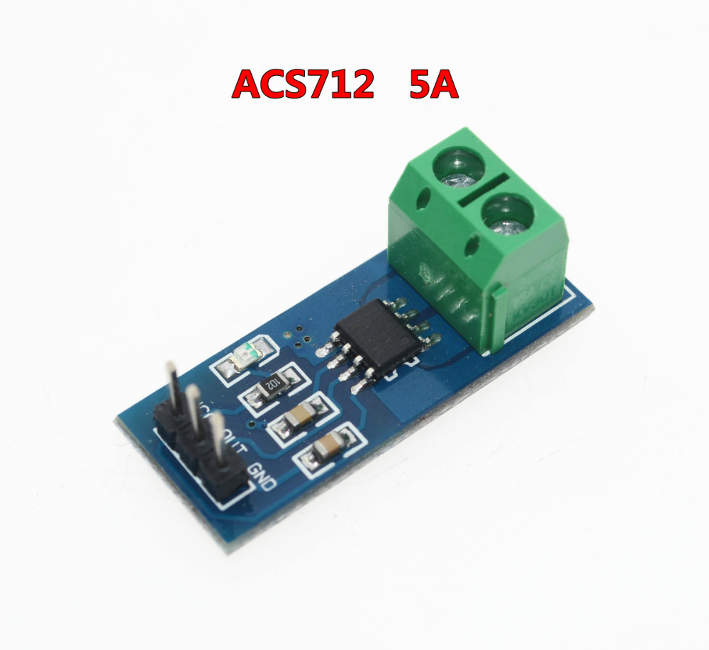 ACS712 5A Range Hall Current Sensor Module ACS712 Module For Arduino 5A DIY Starter Kit produino acs712elc 20a range acs712 current sensor module for arduino blue