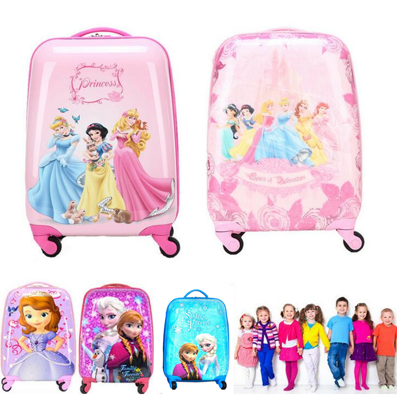 18 Carry-on Suitcase with Wheels Kids Spinner Luggage Travel Rolling Luggage Trolley Bags Children's Luggage vintage suitcase 20 26 pu leather travel suitcase scratch resistant rolling luggage bags suitcase with tsa lock