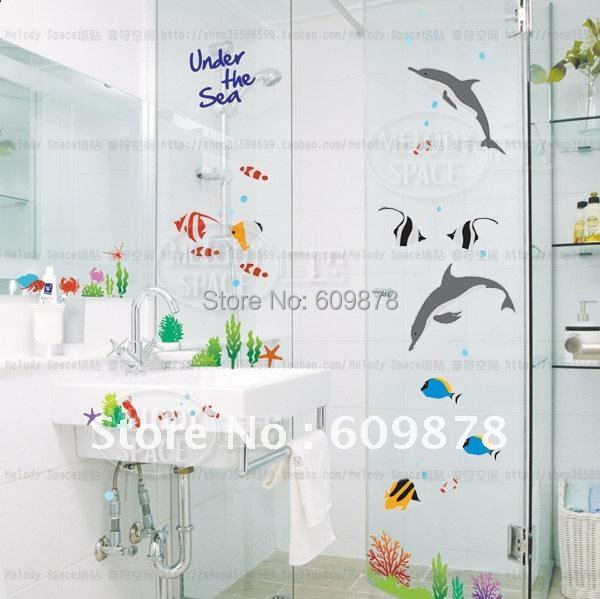 New Arrival Free Shipping Large Under The Sea Dolphin And Fish