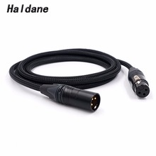 цена на Free Shipping Haldane 3pin XLR Male to XLR Female Audio Adpter Cable 3 Pin XLR Connectors Microphone Cable with NEUTRIK plug