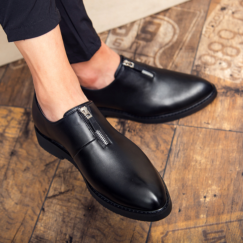 Thestron Shoes Men Slip on Leather Casual Red Black Male Dress Formal Luxury Brand Footwear 2018 Fashion New