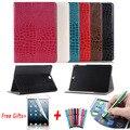 Para Samsung Tab S2 9,7 T810 T815 caso de cuero de cocodrilo Flip funda para Samsung Galaxy Tab S2 9,7 T813 T819N caso