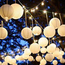 10 unids Chino Bola de Luz de Lámpara de la Linterna de Papel Globo Fuentes Del Partido de Halloween Decoración CY1