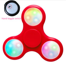 Fidget spinner glowing abs hand spinner three leaf LED fingertips gyro spinner toys for autism and