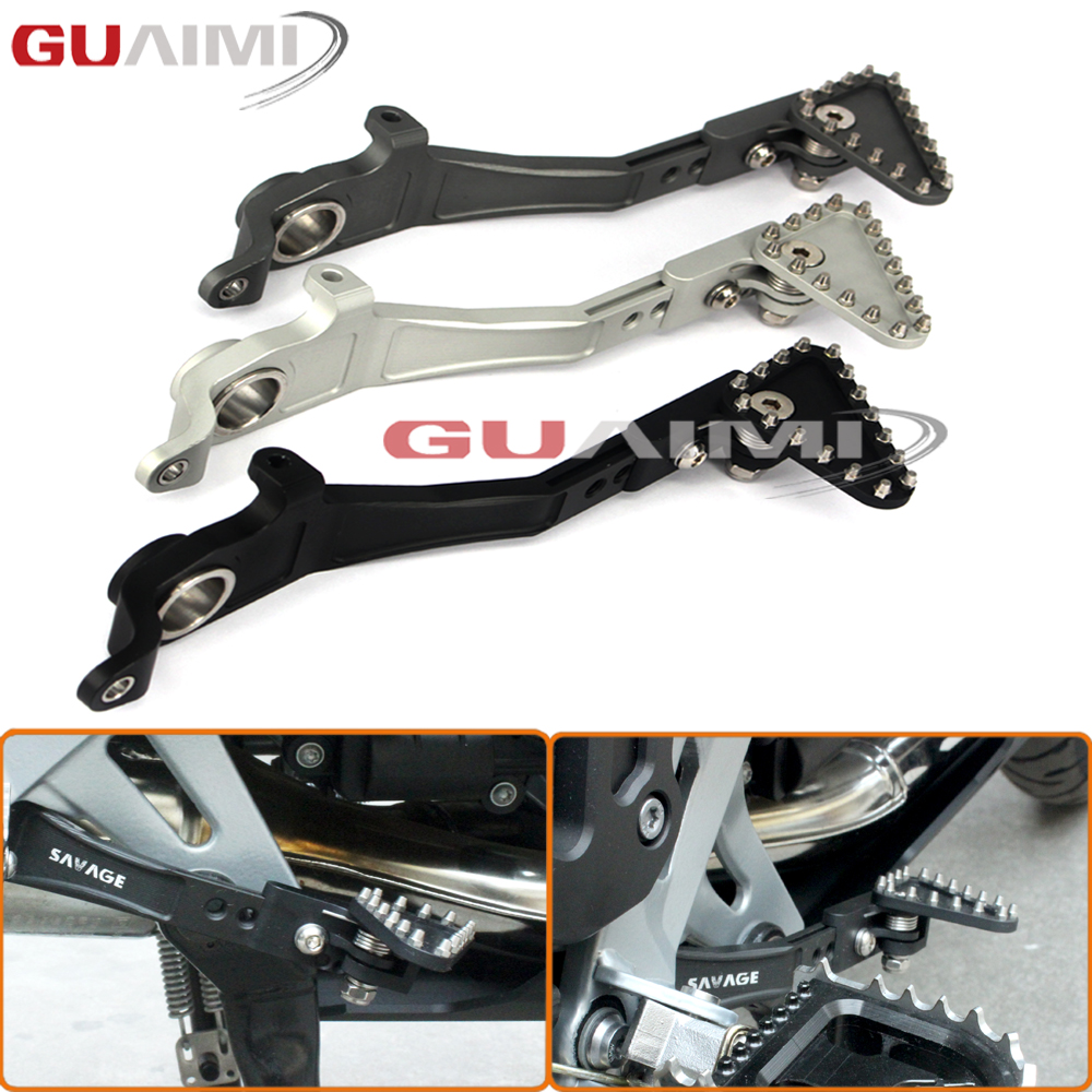 For BMW R1200GS LC /Adventure 2013 2014 2015 2016 2017 Motorcycle CNC Aluminum Adjustable Folding Rear Foot Brake Lever Pedal bjmoto motorcycle cnc adjustable folding gear shift lever shifter brake pedal for bmw r1200gs lc r1200gs adv 2014 2016