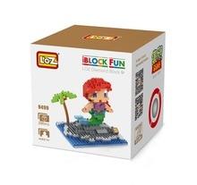 LOZ 9499 Fairy Tales Mermaid Underwater world Diamond Bricks Minifigures Building Block Compatible with Legoe