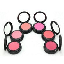 High Quality Brand Makeup Cheek Face Blush Powder 6Color Blusher Powder Pressed Foundation Face Makeup Blusher With Brush