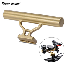 WEST BIKING Bicycle Handlebar Extender Bike Light Holder Computer Bracket Support Extender Headlight Mount Bar Bike Handlebar