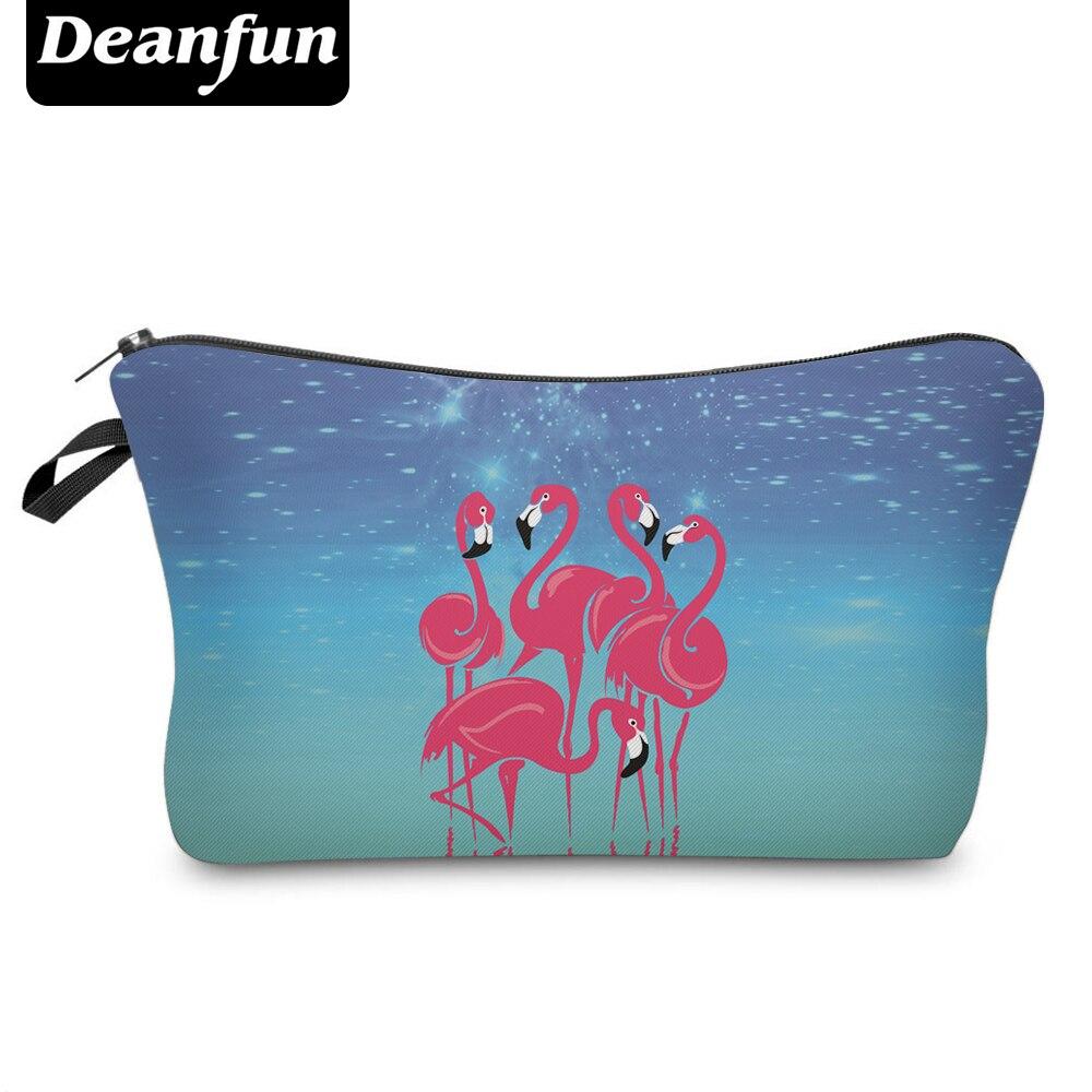 Deanfun 3D Printed Cosmetic Bags Flamingo Necessaries Women Travel Makeup Organizer  50102