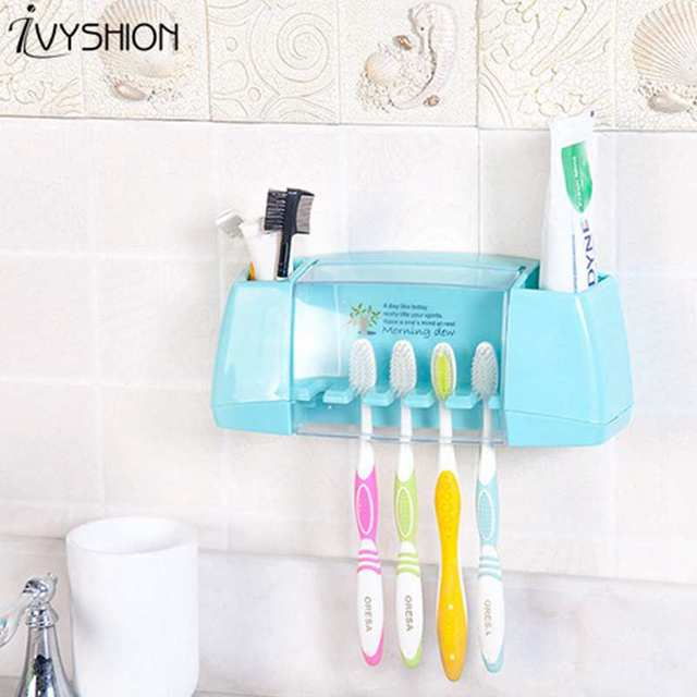Merveilleux IVYSHION Multifunction Toothbrush Storage Box Dust Cover Toothbrush Holder  Wall Mounted Sundries Toiletry Organizer For Makeup