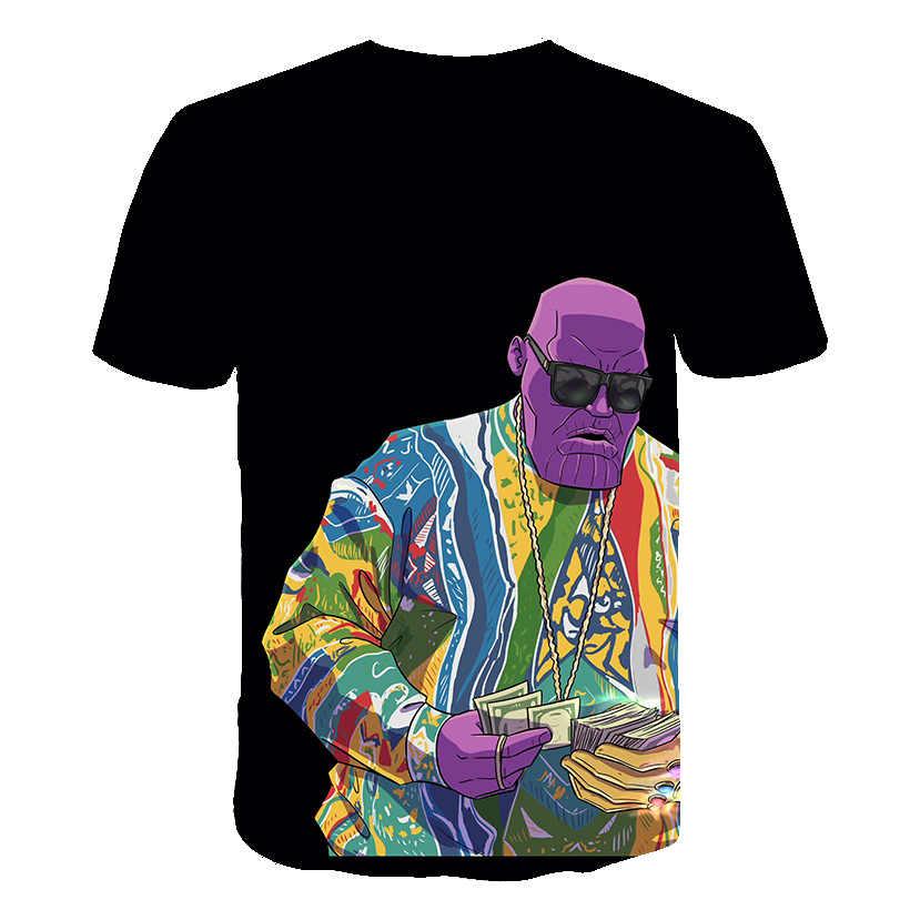 BZPOVB חדש חצי פני ליצן 3d t חולצה מצחיק אופי ג 'וקר מותג בגדי עיצוב 3d חולצה קיץ סגנון tees חולצות הדפסה