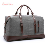 OCARDIAN bolsas Canvas Leather Men Travel Bags Carry on Luggage Bags Men Duffel Bags Travel Tote Large Weekend Bag Overnight #30