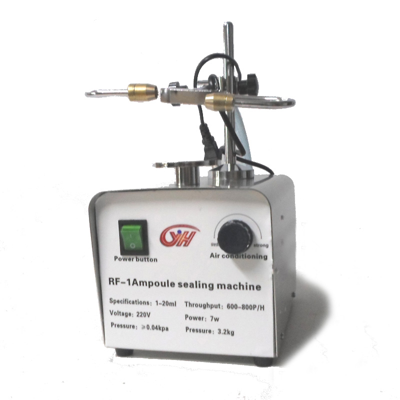 Glass tube hot welding machine, laboratory Ampoule sealing machine manual ampoule sealer, amber vial sealing machine, 110V/220V