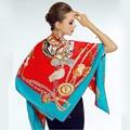Alta qualidade de verão quente Pashmina lenço de sarja de seda lenço de luxo real de guerra de inverno lenço de seda envoltório