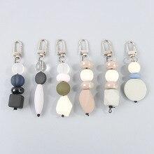 2019 New Feminine Ietter Word Key Chain Set Black Geometric Round letter Beads For Christmas Gift