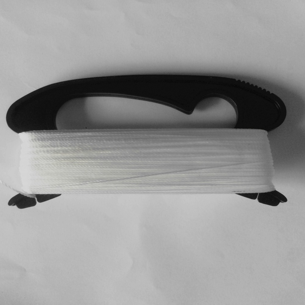 High Quality plastic + polyester 50-100M White Color Line Black Handle Flying Kite Line /Flying Tools Factory Outlet