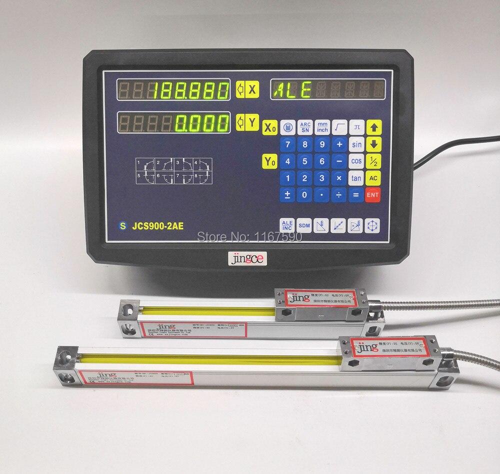 JCS900-2AE 2 Axes de lecture numérique avec échelle linéaire linéaire codeur linéaire règle pour fraisage tour machine
