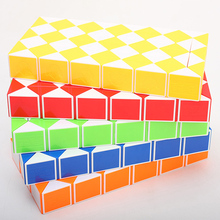 Megainas 72 blocks High Speed hand spiner Magic Snake Shape Toys Puzzle Game Twist stressrelief cube Toys Gift For Kid Craft