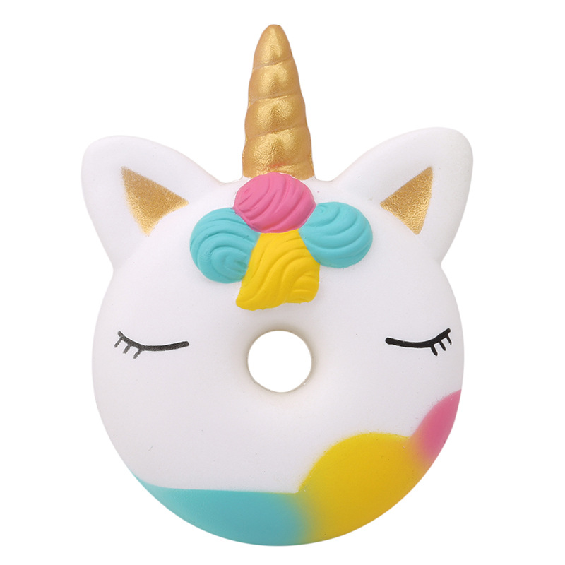 Jumbo Kawaii Unicorn Donut Squishy Cake Bread Squishies Cream Scented Slow Rising Squeeze Toy Kids Xmas Birthday Gift 13*9CM jumbo squishy cute unicorn cake squishies super slow rising cream scented original package squeeze toy