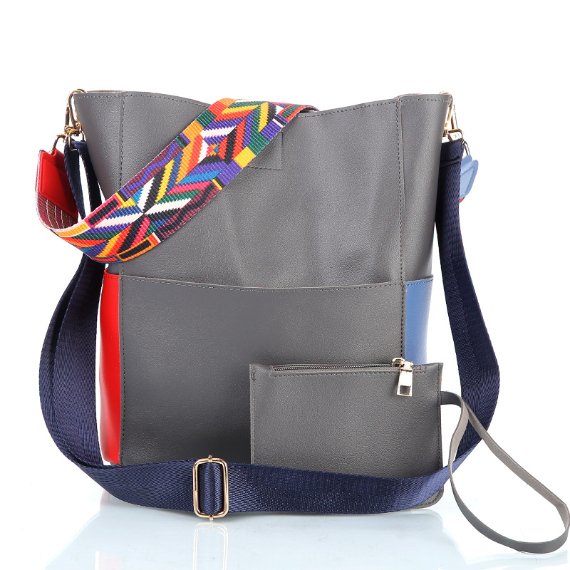 Fashion font b Women b font font b Bag b font Leather Two Set Purse and