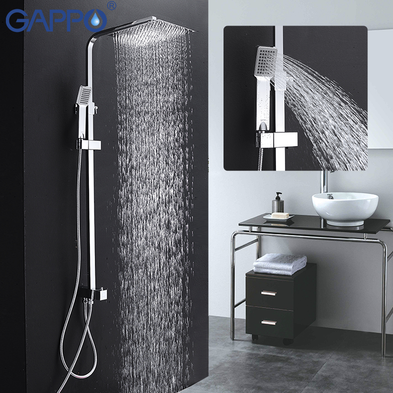 GAPPO bathroom shower faucet set bathtub shower walls bathroom faucet shower wall shower faucet Bathtub tap mixer chrome G2408 fie new shower faucet set bathroom faucet chrome finish mixer tap handheld shower basin faucet