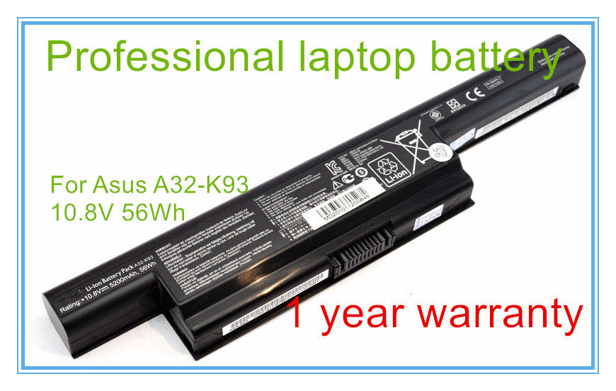 10.8V 56Wh Original Laptop Battery A32-K93 For K93 K93S K93SV A93 A95 A32-K93 A41-K93 A42-K93 6CELL